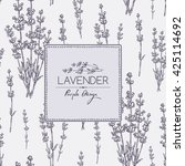 background with lavender. hand... | Shutterstock .eps vector #425114692