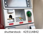red atm machine | Shutterstock . vector #425114842