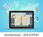 geolocation gps navigation... | Shutterstock . vector #425115535