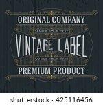 vintage typographic label... | Shutterstock .eps vector #425116456