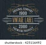 vintage typographic label... | Shutterstock .eps vector #425116492