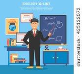 online education training... | Shutterstock .eps vector #425122072