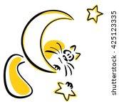 cat holding a star | Shutterstock .eps vector #425123335