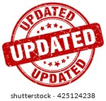 updated. stamp | Shutterstock .eps vector #425124238