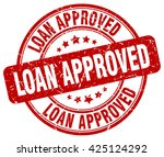 loan approved. stamp | Shutterstock .eps vector #425124292