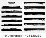 grunge brush strokes set.grunge ... | Shutterstock .eps vector #425130292