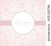 vector flower pattern.... | Shutterstock .eps vector #425130796