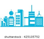 cityscape  building design | Shutterstock .eps vector #425135752