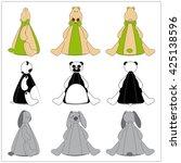 cute animal beanbag cartoon... | Shutterstock .eps vector #425138596