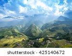 rice fields on terraced in... | Shutterstock . vector #425140672