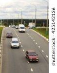 city road vehicles  blur | Shutterstock . vector #425142136