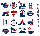 tourism  travel icon set | Shutterstock .eps vector #425143222