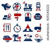 tourism  travel icon set   Shutterstock .eps vector #425143222