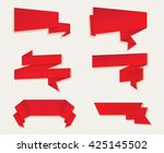 origami banners.paper banners... | Shutterstock .eps vector #425145502