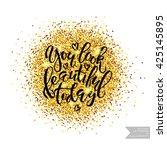 vector hand lettering...   Shutterstock .eps vector #425145895