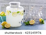 fresh citrus lemonade with... | Shutterstock . vector #425145976