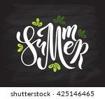 summer colorful vector banner... | Shutterstock .eps vector #425146465