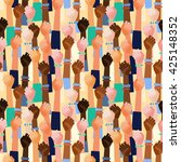 colorful vector pattern with... | Shutterstock .eps vector #425148352