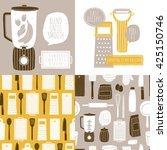 vector set of cooking... | Shutterstock .eps vector #425150746