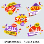 big sale banner. sale and... | Shutterstock .eps vector #425151256