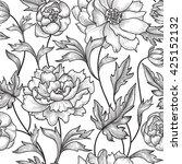floral pattern  flower rose... | Shutterstock .eps vector #425152132