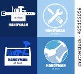 handyman business sign vector... | Shutterstock .eps vector #425153056