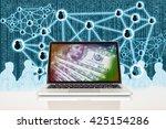 fintech and digital disruption... | Shutterstock . vector #425154286