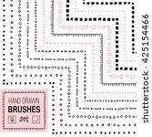 vector hand drawn simple... | Shutterstock .eps vector #425154466