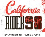 california  riger. new york... | Shutterstock .eps vector #425167246