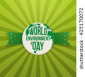 world environment day label and ... | Shutterstock .eps vector #425170072