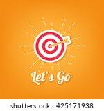 point aim  target. sniper aim... | Shutterstock .eps vector #425171938
