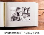 fathers day composition. photo... | Shutterstock . vector #425174146