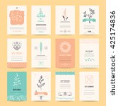 wedding invitation  birthday... | Shutterstock .eps vector #425174836