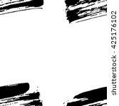 hand drawn brush ink grunge... | Shutterstock .eps vector #425176102