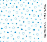 seamless pattern with blue... | Shutterstock .eps vector #425176606