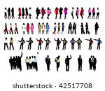 people silhouettes | Shutterstock .eps vector #42517708