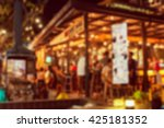 blur image of crowded traveler... | Shutterstock . vector #425181352