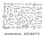 vector sketch arrows. hand... | Shutterstock .eps vector #425184772