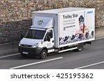 frankfurt germany may 11  truck ...   Shutterstock . vector #425195362