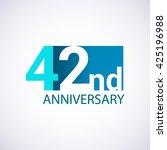 template logo 42nd anniversary. ... | Shutterstock .eps vector #425196988