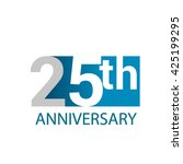 template logo 25th anniversary. ... | Shutterstock .eps vector #425199295