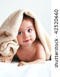 little boy with a blanket on... | Shutterstock . vector #42520660