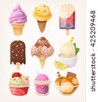 set of colorful tasty isolated... | Shutterstock .eps vector #425209468