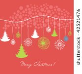 christmas card   Shutterstock .eps vector #42521476