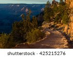rocky hiker path in the side of ... | Shutterstock . vector #425215276