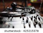 club dj stage equipment... | Shutterstock . vector #425215378