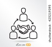 line icon  meeting | Shutterstock .eps vector #425219395