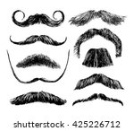hand drawn black and white... | Shutterstock .eps vector #425226712