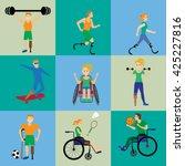 disabled sport games . figure... | Shutterstock .eps vector #425227816