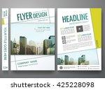 flyers design template vector.... | Shutterstock .eps vector #425228098